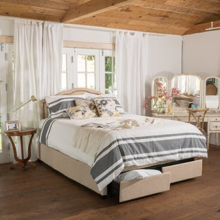 Christopher Knight Home Bellagio Fabric Full Bed Set with Drawers