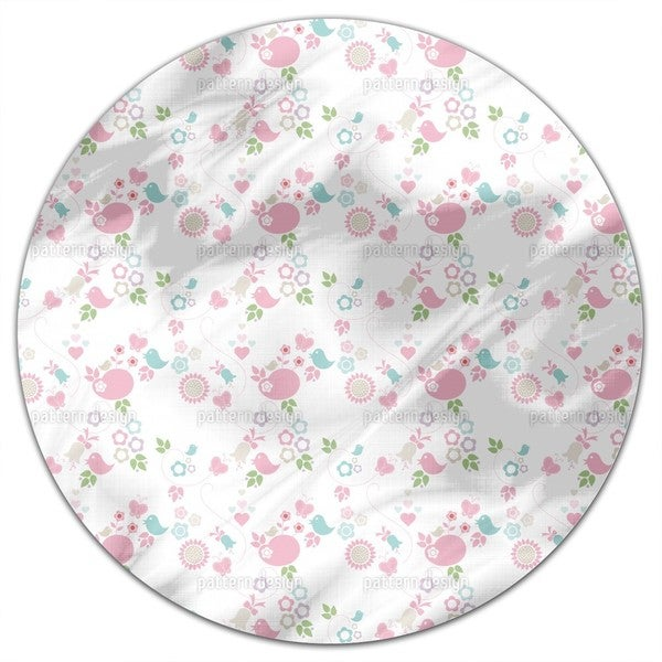 Children Of Nature Round Tablecloth