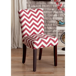Furniture of America Monterey Chevron Pattern Accent Chair (Set of 2)