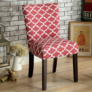 Furniture of America Monterey Quatrefoil Pattern Accent Chair (Set of 2)