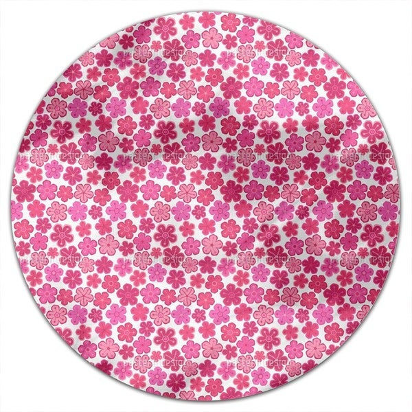 Pretty Flower Ladies Round Tablecloth