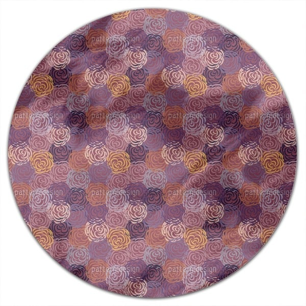 Autumn Roses Round Tablecloth