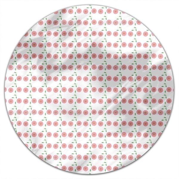 Retro Bloom Round Tablecloth