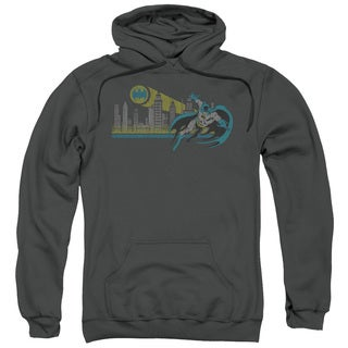 DC/Gotham Retro Adult Pull-Over Hoodie in Charcoal