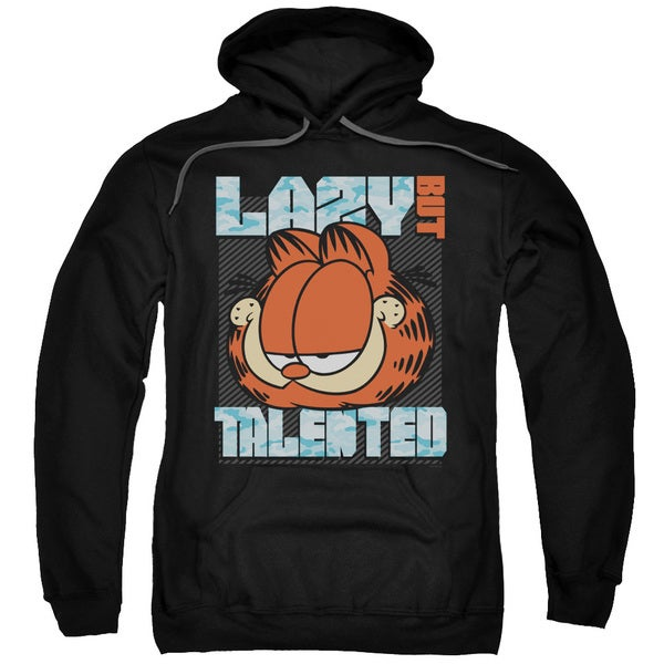 Garfield/Lazy But Talented Adult Pull-Over Hoodie in Black