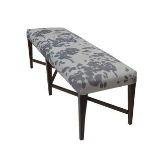 Cambridge Grey Upholstered Wood Bench