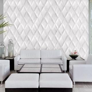 SomerTile 6.75x11.75-inch Aratiba Bevel Grey Ceramic Wall Tile (Case of 12)