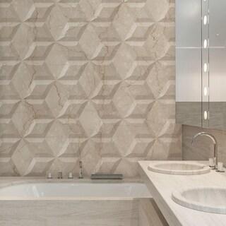 SomerTile 6.75x11.75-inch Aratiba Flat Beige Ceramic Wall Tile (Case of 12)