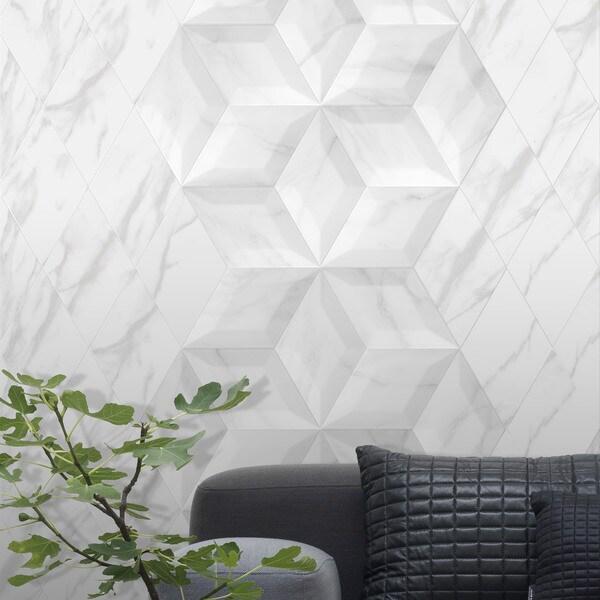 SomerTile 6.75 x 11.75-inch Aratiba Flat Grey Ceramic Wall Tile (Case of 22)