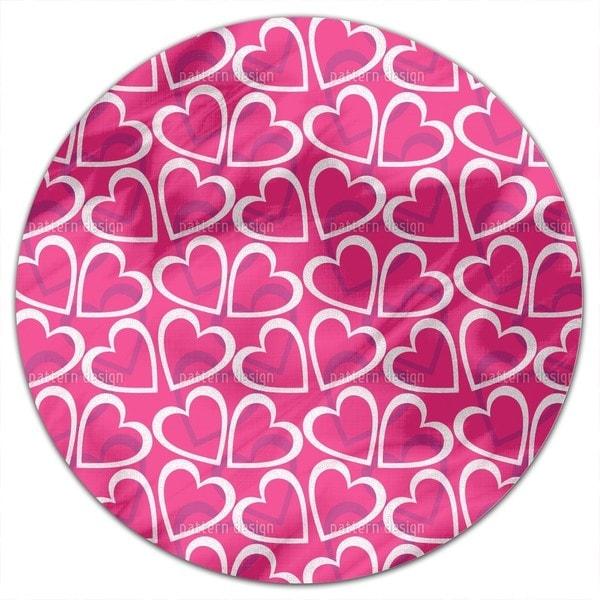 Love Love Love Round Tablecloth