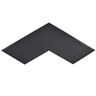 SomerTile 3.375x11.75-inch Ricochet Black Satin Ceramic Floor and Wall Tile (Case of 12)