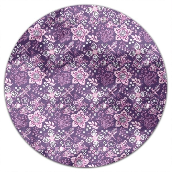 Melancholy Of Nature Round Tablecloth