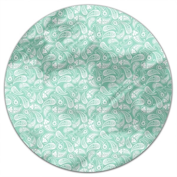 Naturally Paisley Round Tablecloth