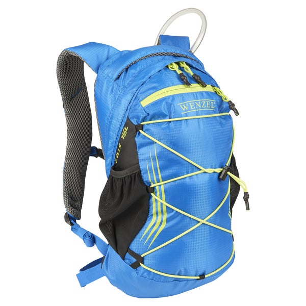 Wenzel Unisex Flux Blue Polyester 15-liter Hydration Backpack