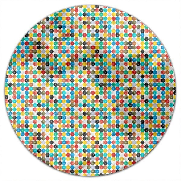 Buttons Round Tablecloth