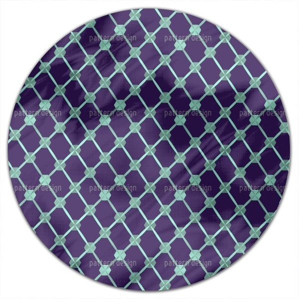 Hexagon Network Round Tablecloth