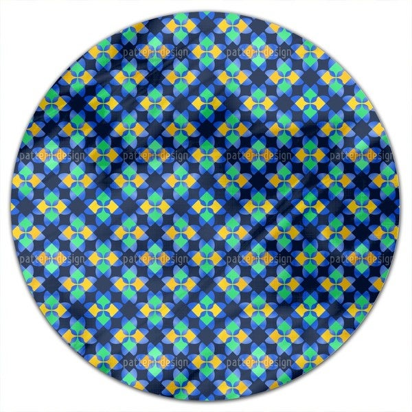 Square Mosaic Round Tablecloth