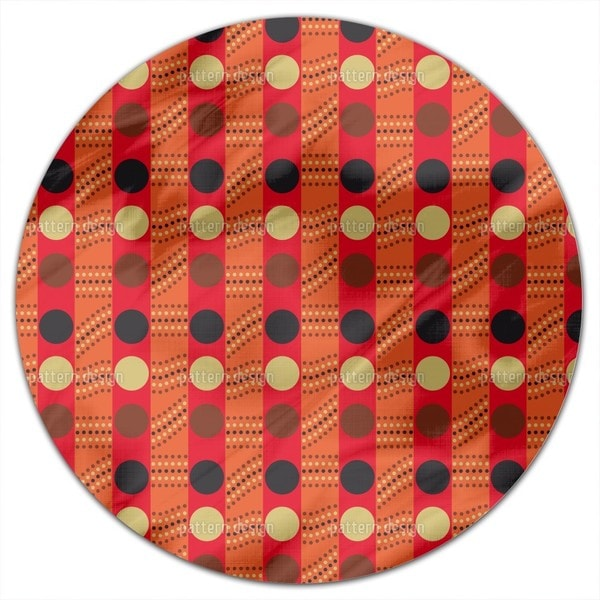Outback Traffic Light Round Tablecloth