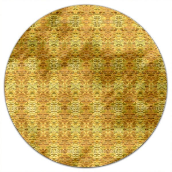 Fibrillation In The Gold Chamber Round Tablecloth
