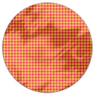 Circular Retro Diamonds Round Tablecloth