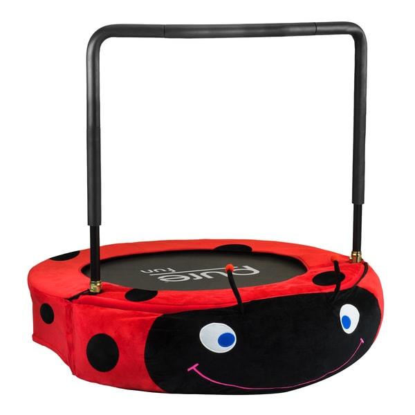 Pure Fun 38-Inch Kids Ladybug Jumper Trampoline