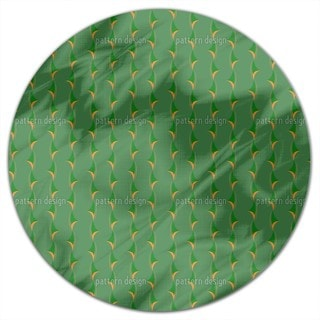 Thorny Green Round Tablecloth