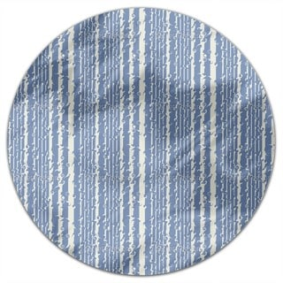 Wavy Games In Blue Round Tablecloth
