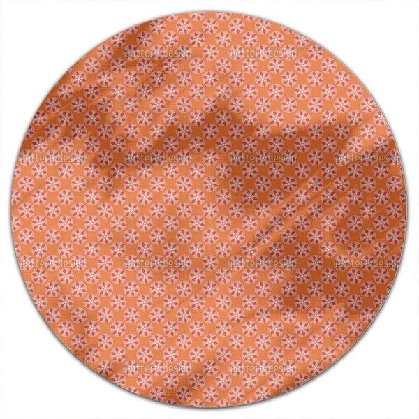 Fantasy Pit Orange Round Tablecloth