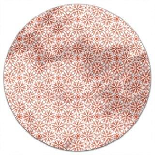 Orange Flowers Round Tablecloth
