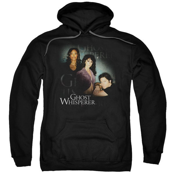 Ghost Whisperer/Diagonal Cast Adult Pull-Over Hoodie in Black