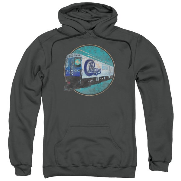 Chicago/The Rail Adult Pull-Over Hoodie in Charcoal