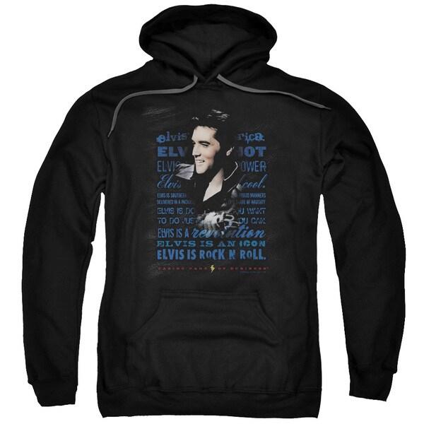 Elvis/Icon Adult Pull-Over Hoodie in Black