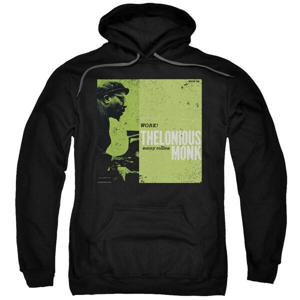 Thelonious Monk/Work Adult Pull-Over Hoodie in Black