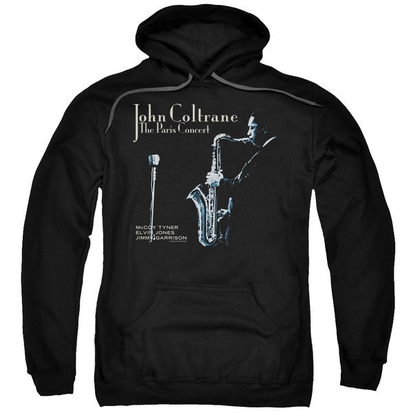 John Coltrane/Paris Coltrane Adult Pull-Over Hoodie in Black