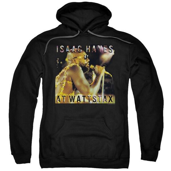 Isaac Hayes/At Wattstax Adult Pull-Over Hoodie in Black