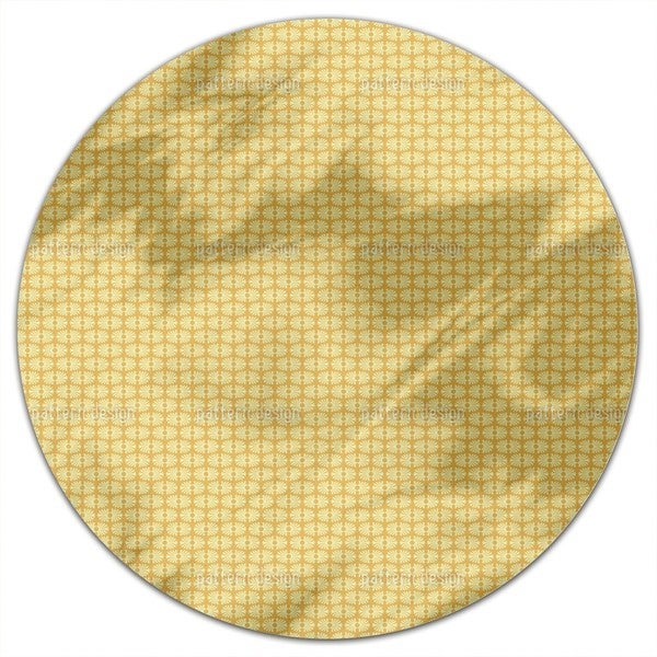 Bamboo Yellow Round Tablecloth