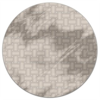Intertwined Brown Round Tablecloth