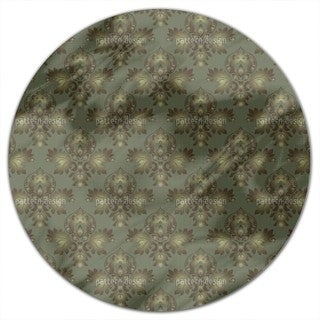 Modern Brocade Design Round Tablecloth