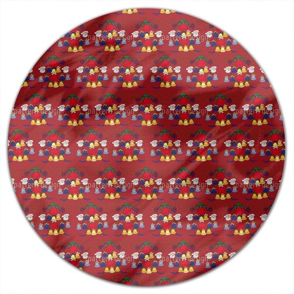 Carillon Red Round Tablecloth