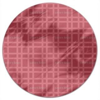 Checked Bricks Round Tablecloth