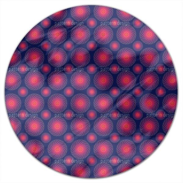 Spiral Nebula Round Tablecloth