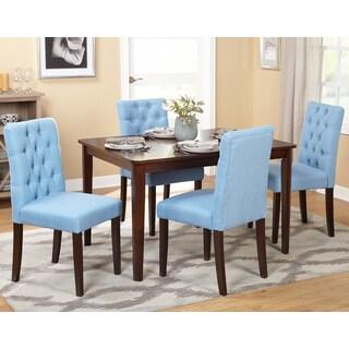 Simple Living Espresso and Blue MDF/Wood/Veneer Annie Dining Set (Pack of 5)
