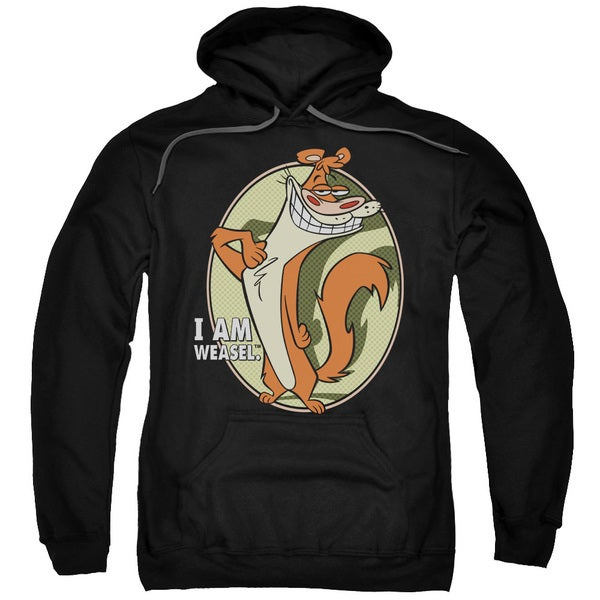 I Am Weasel/Weasel Adult Pull-Over Hoodie in Black