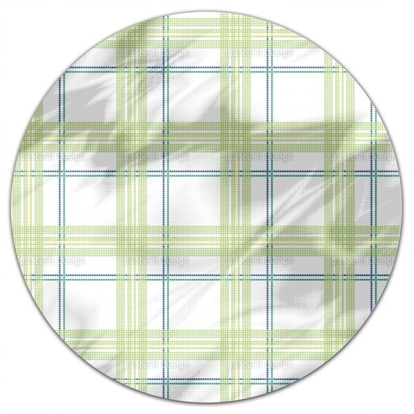 Tile Boy Green Round Tablecloth