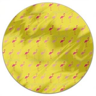 Pretty Flamingo Round Tablecloth