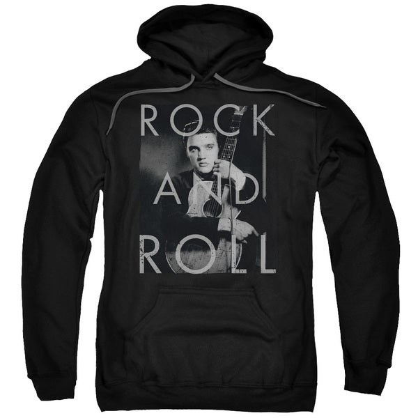 Elvis/Rock and Roll Adult Pull-Over Hoodie in Black