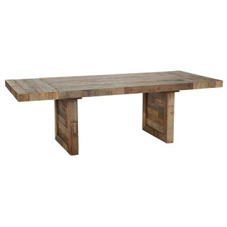 Kosas Home Hand-crafted Oscar Natural Extending 95-inch Recovered Shipping Pallets Dining Table