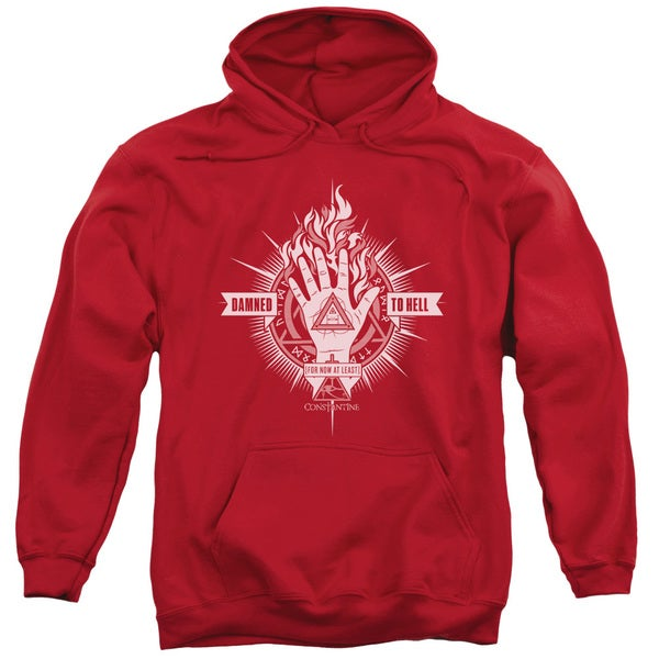 Constantine/Damed To Hell Adult Pull-Over Hoodie in Red