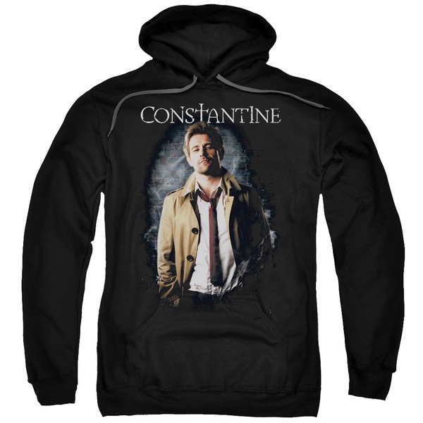 Constantine/Smoker Adult Pull-Over Hoodie in Black