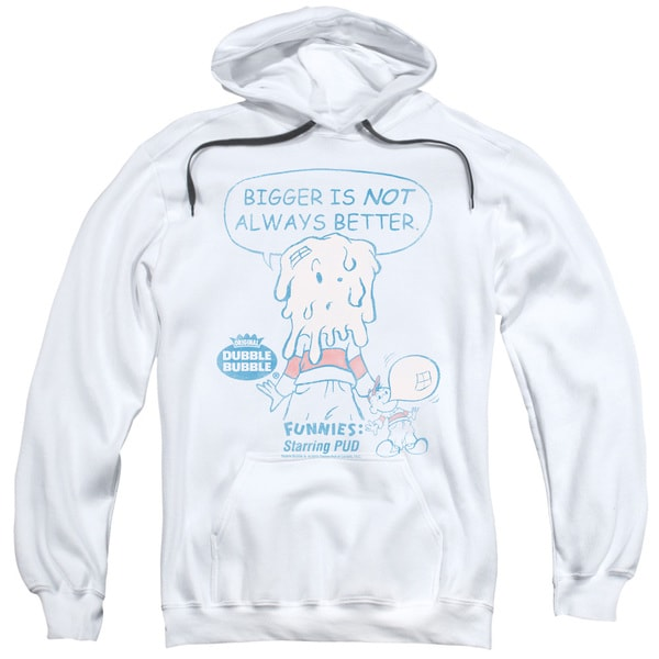 Dubble Bubble/Bigger Adult Pull-Over Hoodie in White